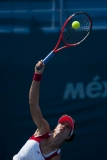 Oct. 20, 2011 - Guadalajara, Mexico - CHRISTINA MCHALE of the United States of America serves to MONICA PUIG of Puerto Rico during the women's tennis singles semi-final match. Puig won the match and will advance to the finals against IRINA FALCONI of the United States of America