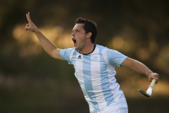 Oct. 29, 2011 - Guadalajara, Mexico - PEDRO IBARRA of Argentina celebrates after scoring Argentina's second goal of the game against Canada, during the men's hockey gold medal match, part of the Pan American Games. Argentina won gold, beating Canada 3-1.