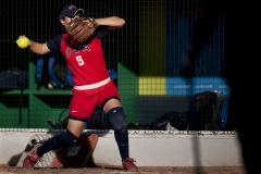 Oct. 22, 2011 - Guadalajara, Mexico - STACY JOHNSON of the United States of America warms up before her softball semifinal game against Cuba. The Untied States of America won the game 13-1 over Cuba and will play against either Cuba or Venezuela tomorrow for the gold medal.